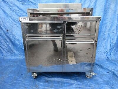 stainless steel multi use station / work table - bench /drink station on wheels