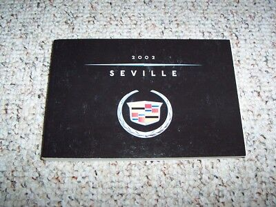 2002 cadillac seville sedan owner owne'rs manual user guide sts sls