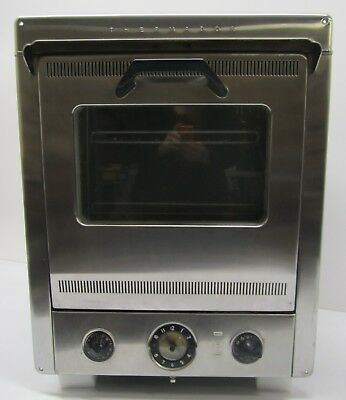 """Vtg MCM 1950s Thermador WO-18AG Built In Wall Electric Oven Stainless Steel 24"""""""