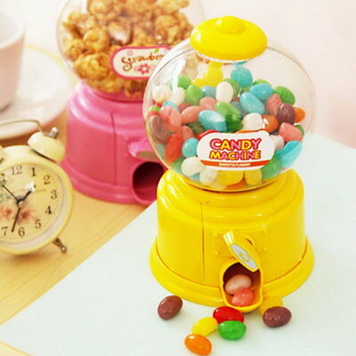 Mini Candy Machine Bubble Gumball Dispenser Coin Bank Kids Toy for Gumballs BS