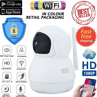 HD 1080P Wireless IP Camera Home CCTV Security System Network Night Vision WiFi@