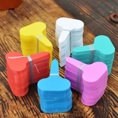 100Pcs Plastic T-type Garden Tags Plant Flower Label Nursery Thick Tag MarkersBS