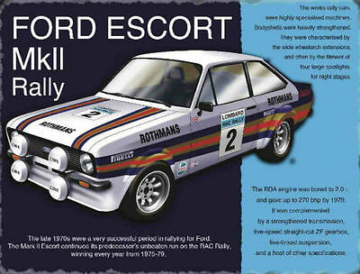 Retro Vintage Style Metal Sign FORD ESCORT MARK 11 RALLY CAR GARAGE HOME DECOR