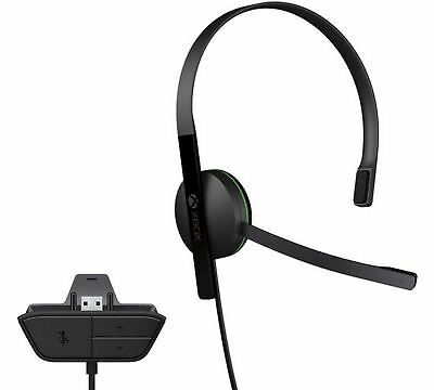 Microsoft Xbox One Chat Headset Official Gaming Earphone with Microphone Black