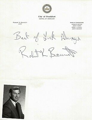 1973 City Of Frankfort, Kentucky, Office Mayor~Letterhead W/ Autograph