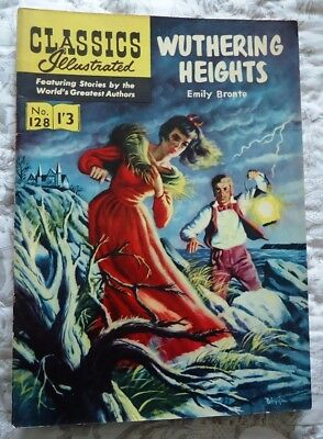 Classics Illustrated #128 Wuthering Heights by Emily Bronte
