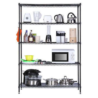 Adjustable 5-Tier Heavy Duty Extra Large Shelving Unit 200Kg Weight Capacity