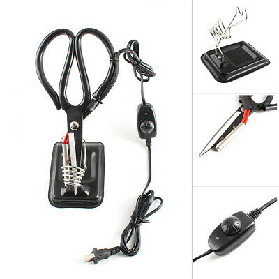Black 220V Carbon Steel Electric Heating Tailor Scissors With Thermostat Switch