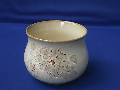 Denby Pottery Stoneware England Open Sugar Bowl Sandalwood Flowers Design Creams