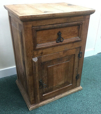 Rustic Pine Cabinet With Metal Detailing