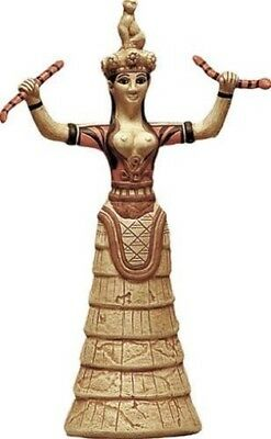 Minoan Greek Snake Goddess from Crete Statue Replica 12.25H