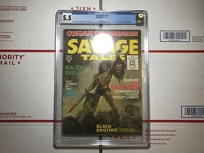 Savage Tales #1 (May 1971, Marvel) CGC 5.5 FIRST APPEARANCE of Man-Thing