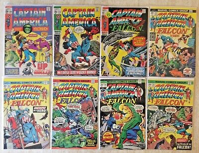 Captain America Bronze-Age Lot Of 21 From 130 To 222 | 11 Wiith Jack Kirby Art!