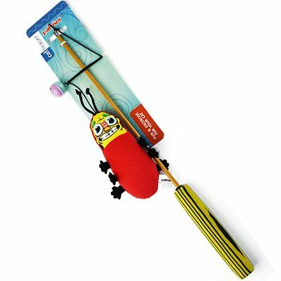 Toy Wand Teaser Wand Cat Toys Interactive Retractable Wand Rod  MQ