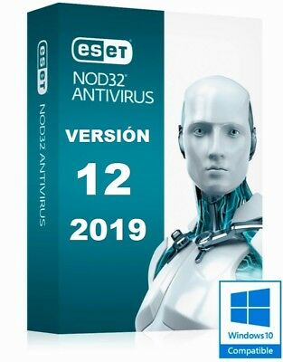 ESET NOD32 2019 ANTIVIRUS Version 12, 1 PC, Original Product Key 2 Years