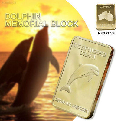 13E6 Dolphin Bullion Bar Commemorative Coin Souvenirs Gift 0.9999 Fine Gold