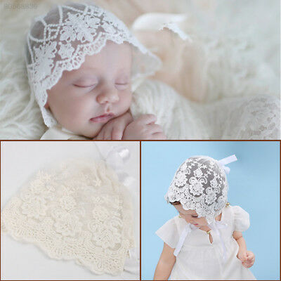9AA2 Lace Bonnet Hat Baby Gifts Photo Prop Clothing Accessory Newborn