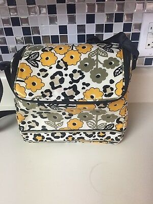 VERA BRADLEY STAY COOLER INSULATED LUNCH TOTE GO WILD 9 x 7.5 x 6 GUC
