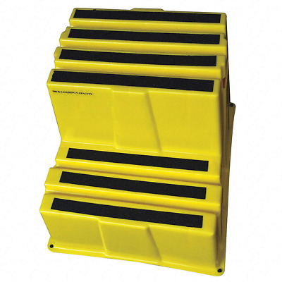 "Plastic Box Step, 19-3/4"" Overall Height, 500 lb. - 44ZJ64"