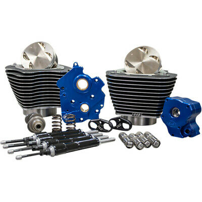 """S&S Chain Drive 124"""" Big Bore Power Package Kit Black Harley M8 Water-Cooled"""