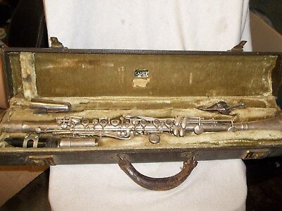 Vintage Cadet  Clarinet, Bettoney Co, Silver Plated