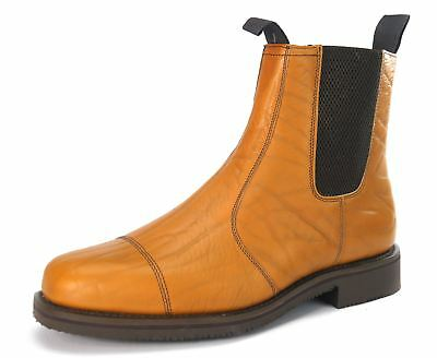 Charles Horrel Catterick Britsh Welted Mens Country Mustang Boots Tan Grain
