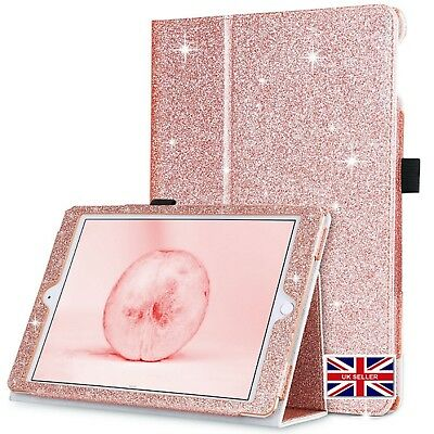 For iPad 9.7 6th Gen Mini Air Glitter Wake/Sleep Leather Case Wallet Stand Cover