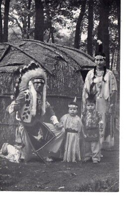 Native American Indian Family Children Wigwam Chief Little Eagle Wisconsin