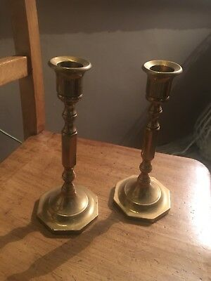 Pair Of Vintage Brass Candlesticks - Candle Holders For Christmas!
