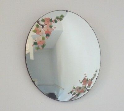 Vintage Round Wall Convex Mirror Mirrart Product Hand Painted