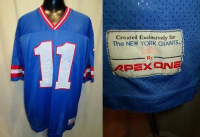 Vintage APEX ONE NY New York Giants Retired Jersey #11 Phil Simms Footbal L 80s
