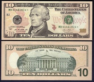 """""""STAR"""" USA - 10 Dollars 2013 (New York) - Federal Reserve Note - UNC"""