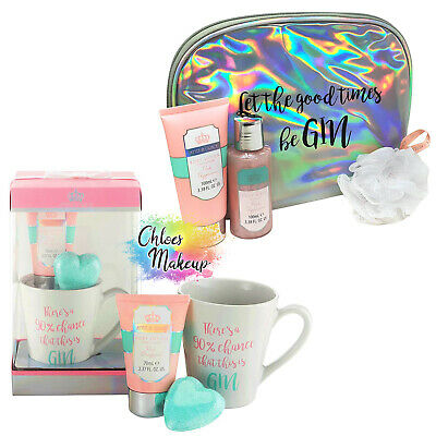 Style & Grace Gin Pamper Gift Set - Mug, Body Lotion, Body Wash, Bath Bomb & Bag
