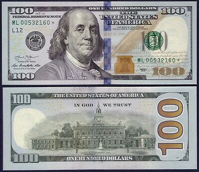 """""""STAR"""" USA - 100 Dollars 2013 - Federal Reserve Note - UNC - ML00532160*"""