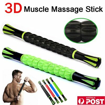 AU Travel Massage Roller Stick Trigger Point Sports Muscle Body Massager F7