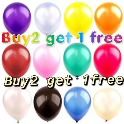 "10X Latex11"" Pearlised mix colour Birthday Wedding Party Baloons BallonsBalloons"