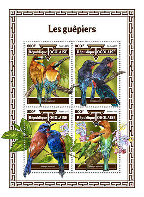 Z08 Imperf TG17613a Togo 2017 Bee-Eaters MNH Mint