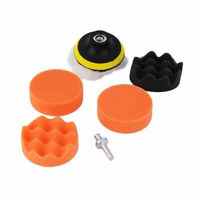 3 inch Polishing Sponge Pad Kit For Car Auto Polisher + M10 Drill Adapter 2FK