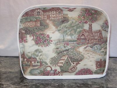 Country Cottages cotton fabric Handmade 2 slice toaster cover (ONLY)