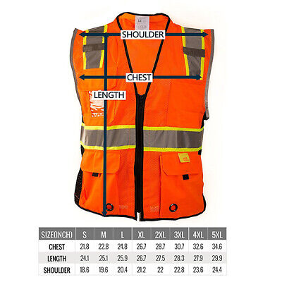 Class 2 HIGH VISIBILITY Reflective Harness D-Ring Safety Vest -P6611/12
