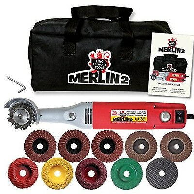 ^KATOOLS  MERLIN 2 MINI WOODCARVING SET /& DISC WORLD SMALLEST CHAIN SAW #10005