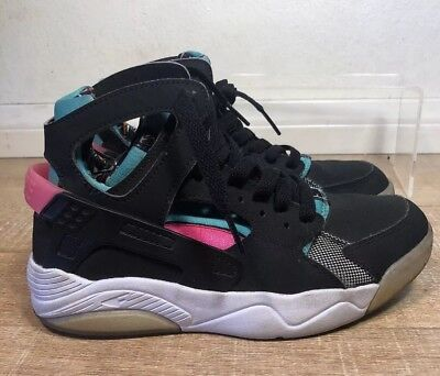 online store dfb5e 8b787 Nike Flight Huarache Black Light Retro Pink Power 705281-003 SZ 3.5Y