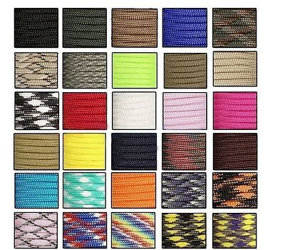 30M 550 Paracord Parachute Cord Lanyard Mil Spec Type III 7 Strand Core100FT NK