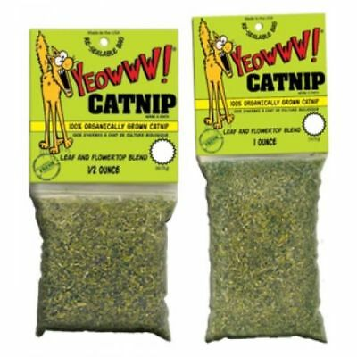 Yeowww 100% Organic Catnip Bags 2 Sizes Available Cat Kitten Treat Toy