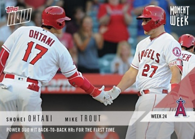 Shohei Ohtani & Mike Trout 2018 Topps Now Moment of the Week #MOW-24