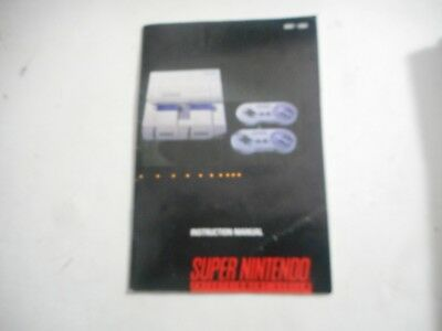 Super Nintendo Entertainment System Console Manual Instruction Booklet Free Ship