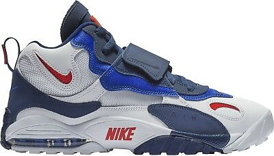 Nike Men's AIR MAX SPEED TURF Shoes White/University Red/Blue Void BV1165-100 c