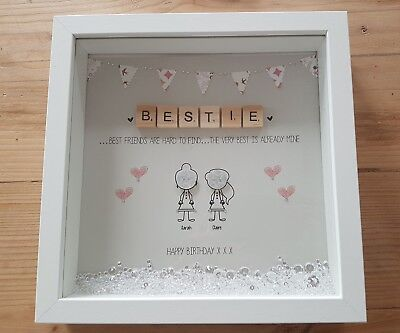 Personalised Friendship Best Friend Birthday Gift Thank You Box Frame