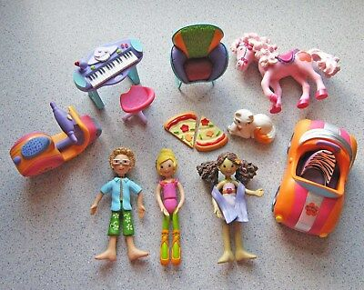 Groovy Girls Minis collection! 3 Dolls, Car, Scooter, Horse and More