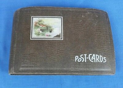 Vintage Postcard Album Empty Holds 98 Cards